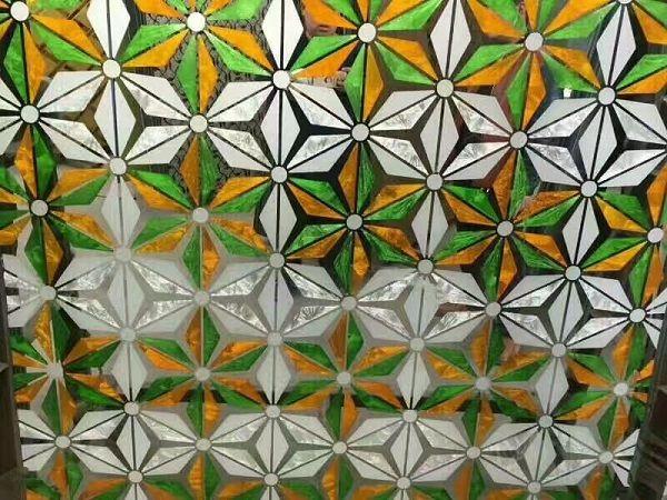 几何图案印花玻璃