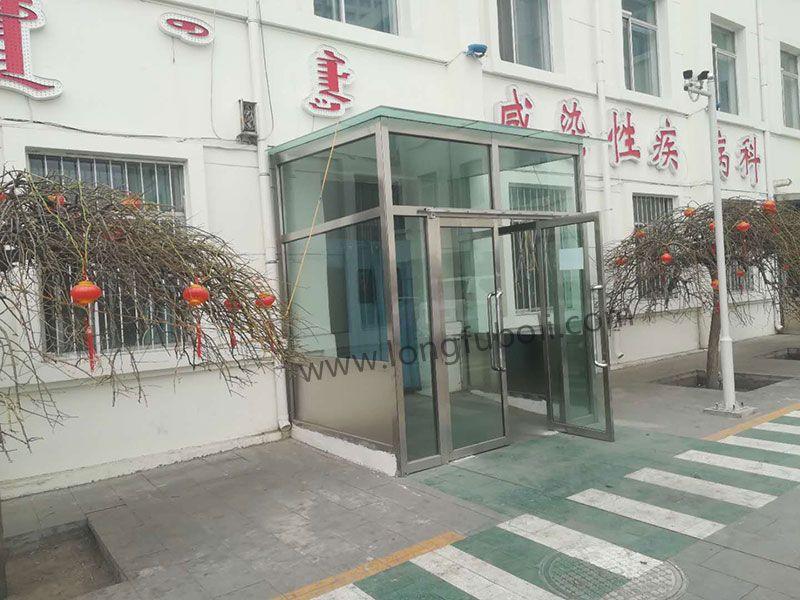 内蒙古医学院钢化玻璃门定制