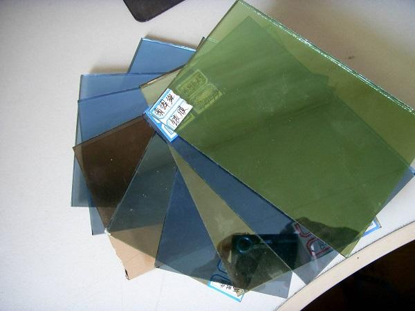 各种彩色镀膜玻璃样品