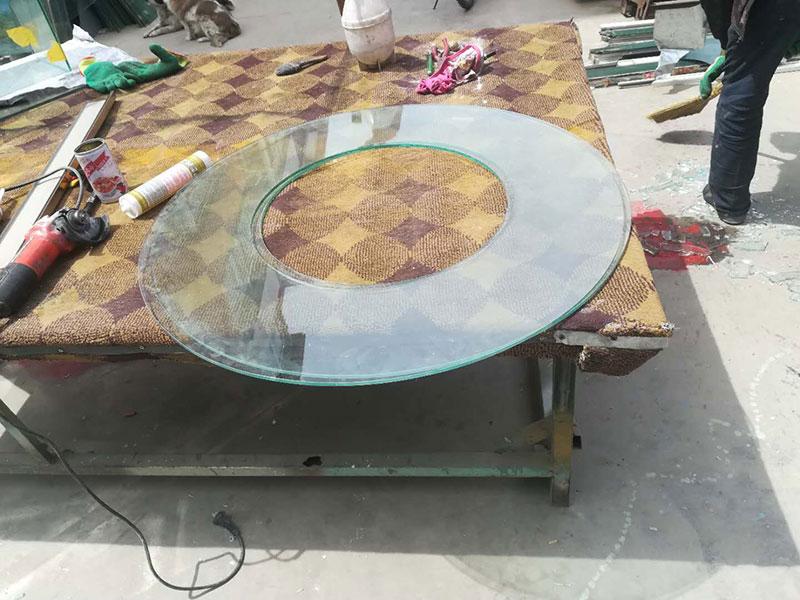 呼和浩特餐饮专用不锈钢玻璃餐桌转盘